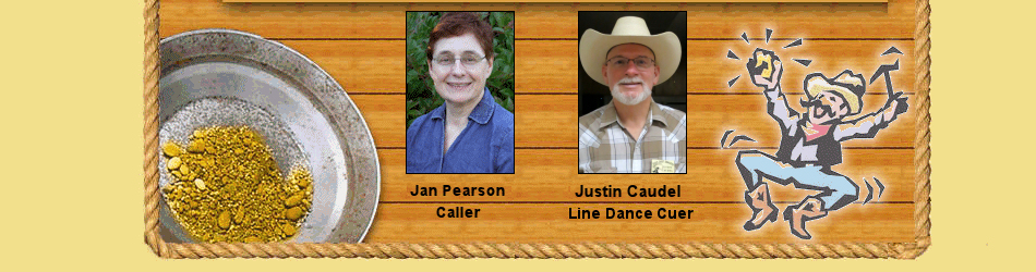 Jan Pearson, caller and George Morrill line dance cuer